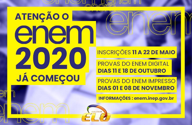 Enem ( inscrições 2020 abertas )